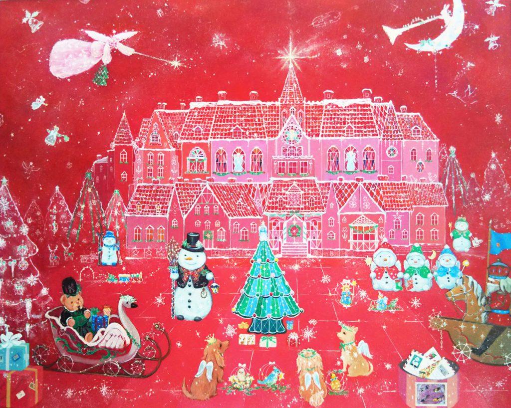 第45回記念現代童画展入選 クリスマスの夜に